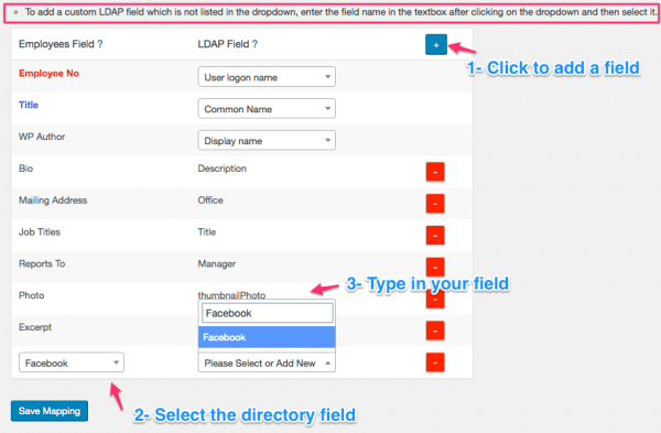 How to map custom Active Directory/LDAP fields to Employee Directory Pro using AD/LDAP addon